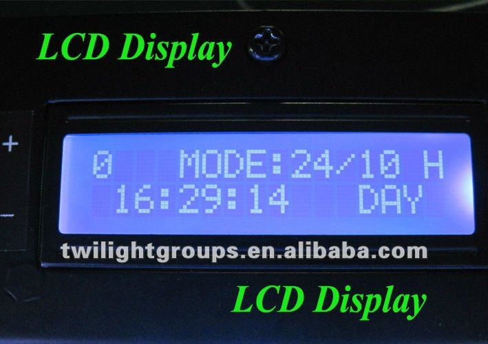 Dimmable 120w(55X3W) led Aquarium light with LCD Timer for coral with 2 knob dimmer and one switch(China (Mainland))