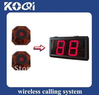 Cheap Restaurant Call Bell System ; Restaurant Paging System ; Free Shipping ; 1pcs receiver + 5 pcs button ; One Year Warranty