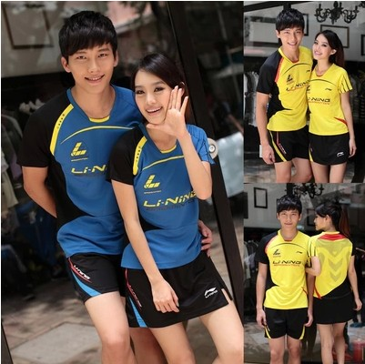 2015 New Arrival Badminton Shirt Suit Summer Sports Short Sleeved T-shirt And Quick Dry Badminton Jersey Badminton Clothing(China (Mainland))