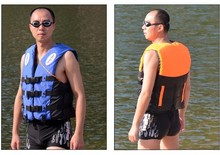 Professional Life Jacket Adult Life Vest Safety Swimming Vest Inflatable Drifting Suit Water Sports 10Pcs / Lot Free Shipping(China (Mainland))