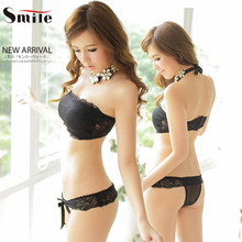 2016 New Arrival Hot Sale Women Sexy Lace Push Up Strapless Chest Wrap Set Four Hook-and-eye Cute Bra Set