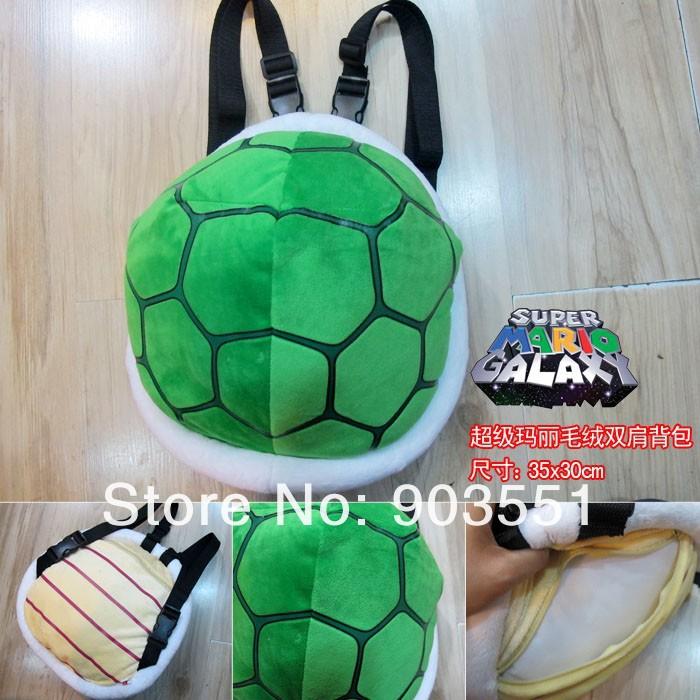 Free Shipping Super Mario Plush 35cm Koopa Troopa Shell Backpack Stuffed Animal Toy(China (Mainland))
