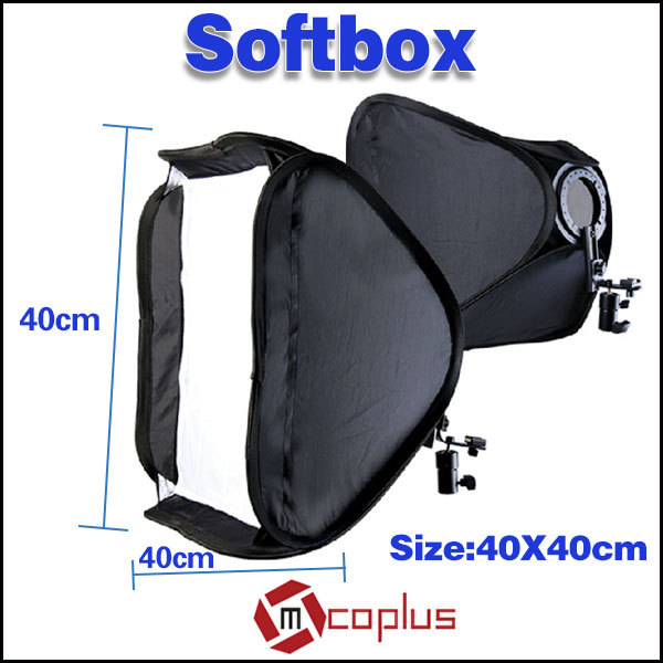 "Mcoplus 19"" 40x40cm Photographic Studio Flash Bracket Softbox for Nikon SB900 SB600 & Canon 430EX/580EX II Yongnuo YN-560 II III(China (Mainland))"