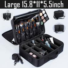 2017 новых прибытия косметическая сумка макияж box водонепроницаемый путешествия косметический мешок профессиональный косметический салон поле(China (Mainland))