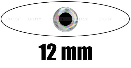 """12mm, Silver Color / Wholesale 630 Soft Molded 3D Holographic Fish Eyes, Fly Tying, Jig, Lure Making, 15/32""""(China (Mainland))"""