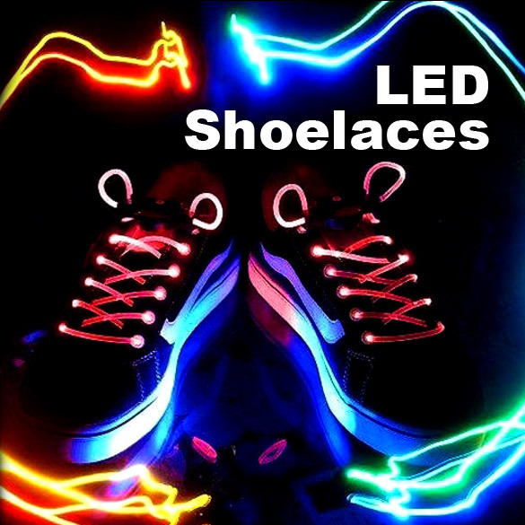 New LED Light Up Shoelace Glow In The Dark Shoelace For Shoelace / Athletic Shoes Party / Camping / Sports H1E1(China (Mainland))