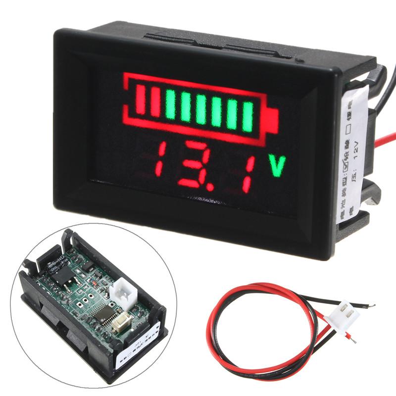 Digital Panel Meter DC 0~33V Red Led Display Voltmeter DC 12V Voltage Monitor/Tester for Motor /Motorcycle /Battery(China (Mainland))