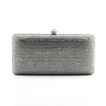 Ladies popular grey hard clutch evening bag and matching high heel shoes for party(China (Mainland))