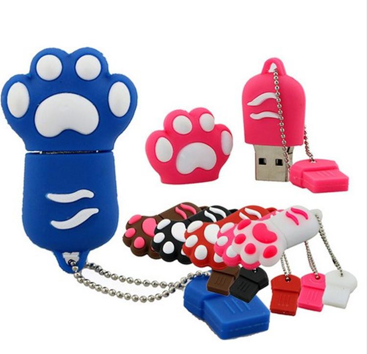 Hello Kitty Paw Usb Flash pen Drive disk Memory Sticks 2GB 4GB 8GB 16GB 32GB 64GB Pendrive Free Shipping(China (Mainland))