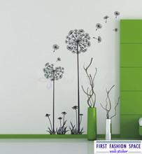 Free Shipping Modern Wall Sticker Vinyl Art Mural Wall Stickers DANDELION FLOWERS 75*145CM