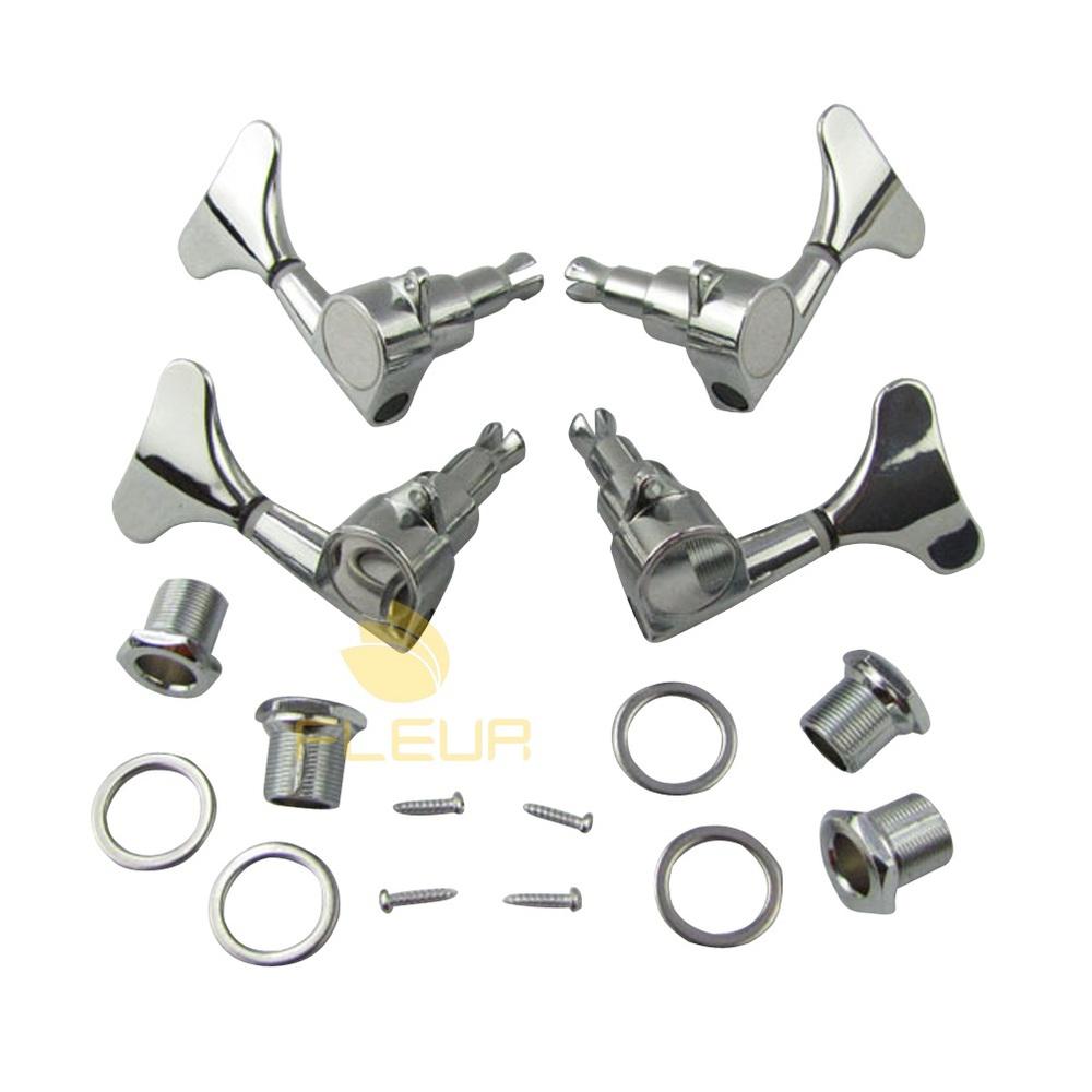 NEW 2L2R Bass Tuning Keys Pegs Machine Head Tuners Chrome(China (Mainland))