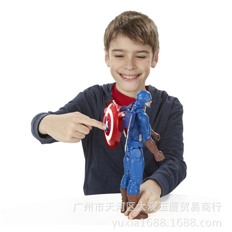 12 Inches Captain America Avengers Superheroes Action Figures Models With Music and Lighting Come with Original Box Kids Gifts(China (Mainland))