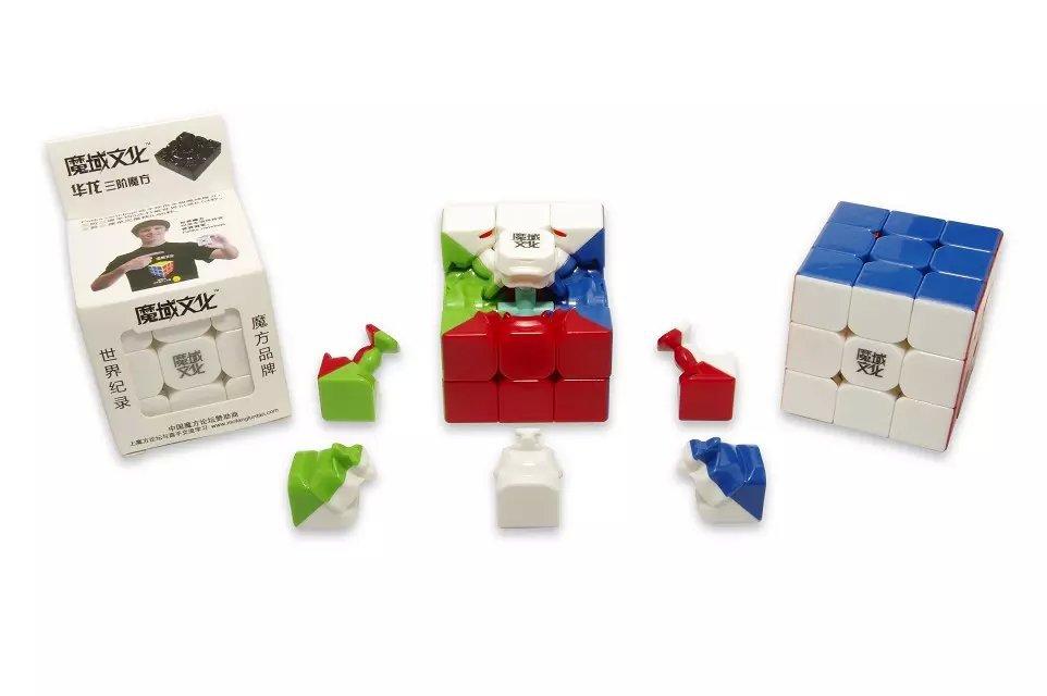 Yongjun MoYu HuaLong 57mm 3x3x3 Magic Cube Speed Puzzle Cubes Four colours(China (Mainland))