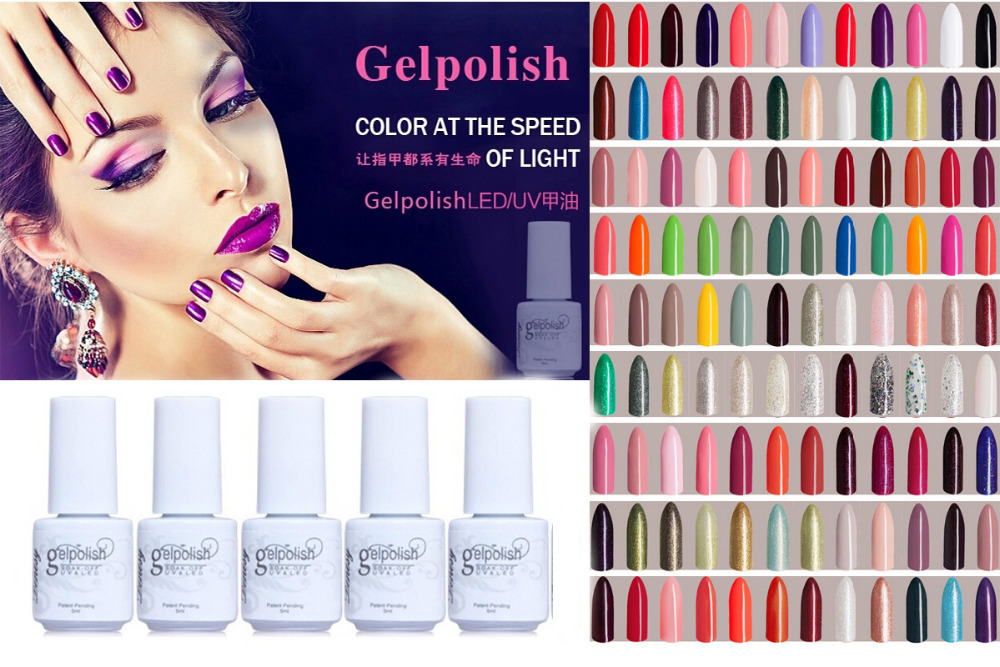 156 Colors ! 5ml Nail Art Gelishgel UV&LED Nail Gel Polish Long lasting soak off Varnish # HT-GL156(China (Mainland))