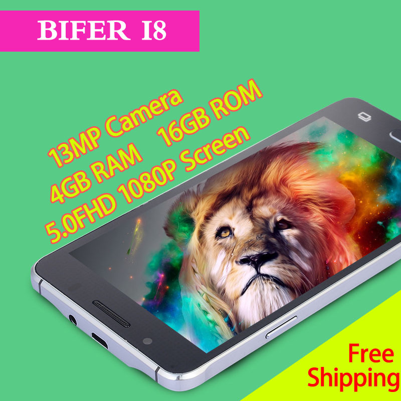 Original Smartphone BIFER i8 Cheap Mobile Phone MTK6592 Octa Core Cellphone 1080P Android 4.4 13MP Camera 3G Unlocked Cell Phone(China (Mainland))