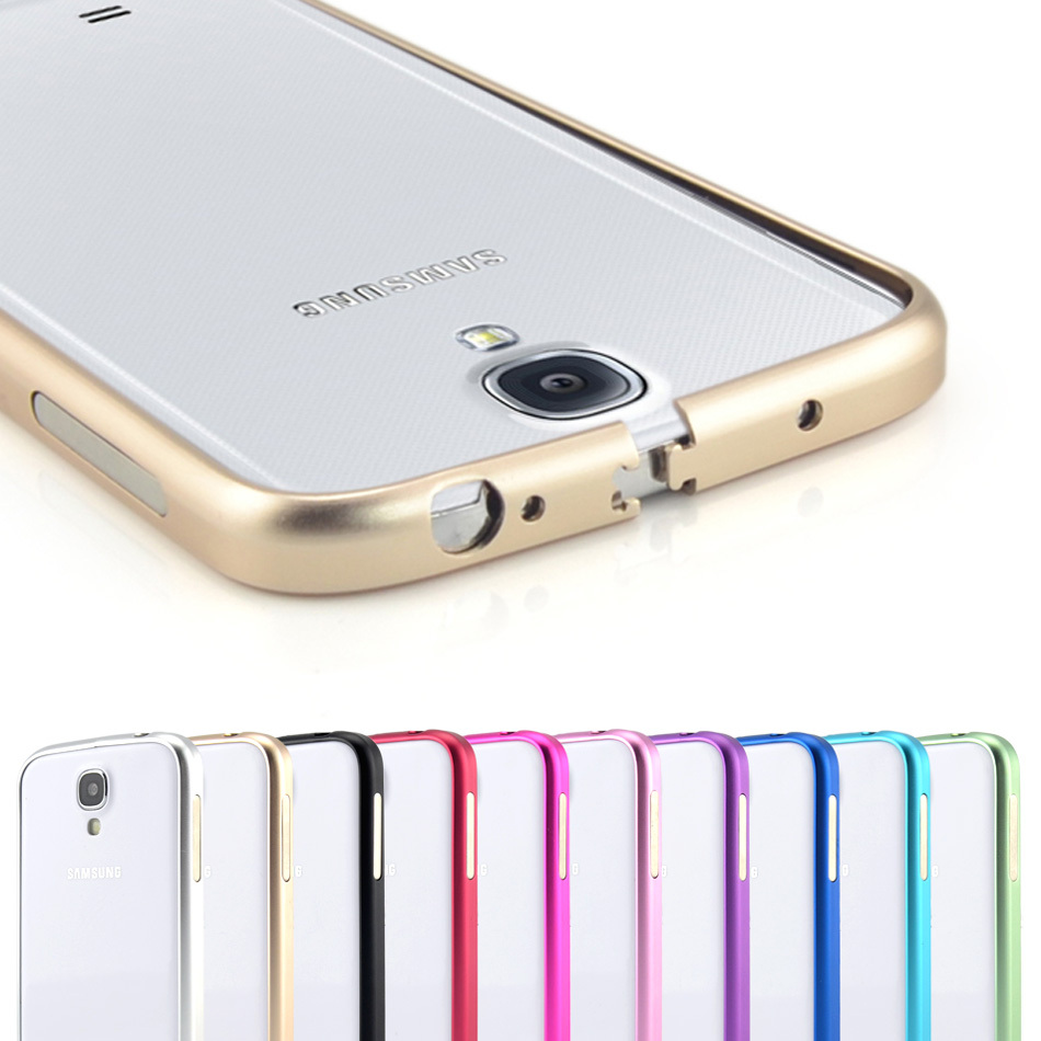 Ultrathin Aviation No Screws Frame S4 Phone Cover Ultra Thin Metal Luxury Aluminum Bumper Case For Samsung Galaxy S4 i9500(China (Mainland))