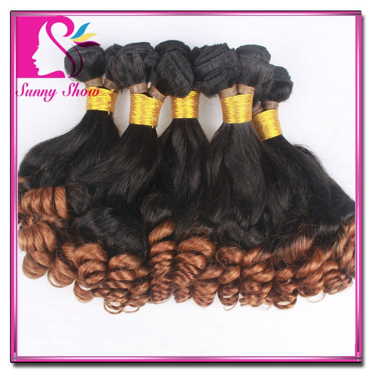 Ombre Funmi Hair Top 7A Best 3pcs Brazilian Bouncy Curl Virgin Brazilian Aunty Funmi Hair for Black Women hj Hair Products