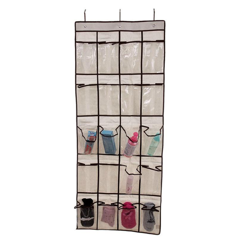 Practical 20 Pocket Hanging Bag Door Holder Shoe Storage Organizer Closet Hanger Organiser #26036(China (Mainland))