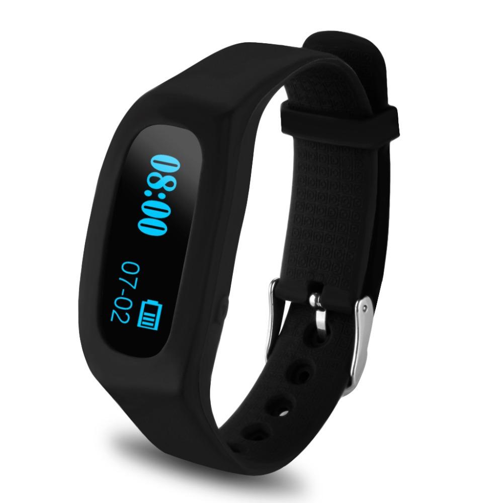 excelvan oled smart bracelet bluetooth sport watch pedometer sleep monitoring calorie counter. Black Bedroom Furniture Sets. Home Design Ideas
