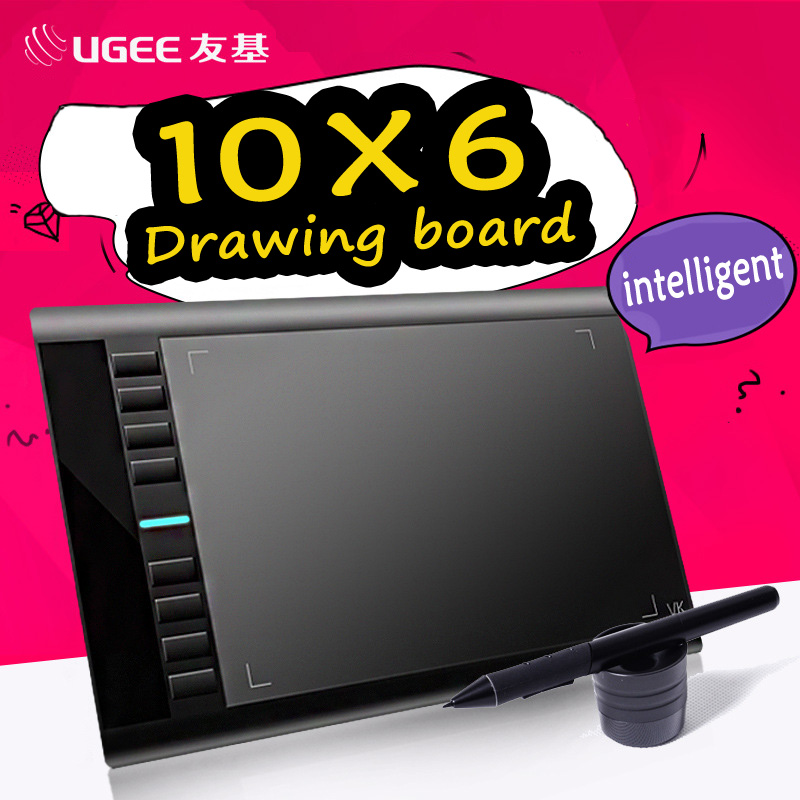 UGEE M708 10x6inch Smart Graphic Drawing Tablet Digital Tablet Signature Pad Drawing Pen for Writing Painting Pro Designer wacom(China (Mainland))