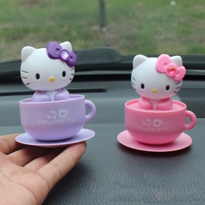 Hello kitty car accessories,funny cartoon car styling ornaments with ...