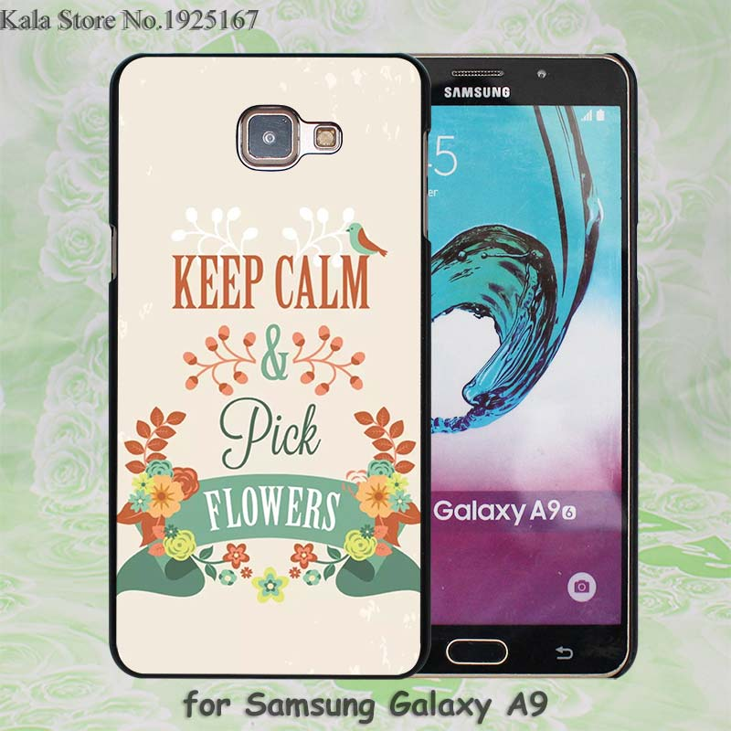 keep clam pick flowers Pattern hard black Case Cover for Samsung Galaxy A7 A710 A8 A9 A5 A510 A3 A310(China (Mainland))
