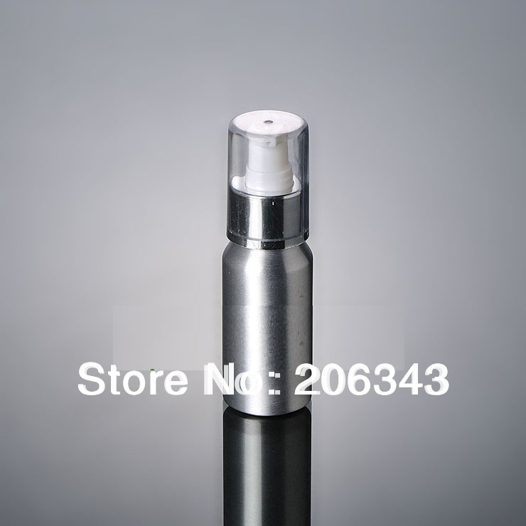 100pcs 50ml Aluminium pump bottle with silver collar or lotiong bottle