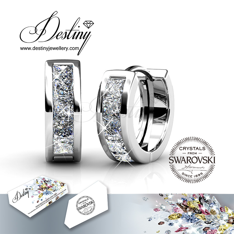 Destiny Jewellery - Crystals from Swarovski Earrings made with Nickel free & 18K gold plating - DE0215(China (Mainland))