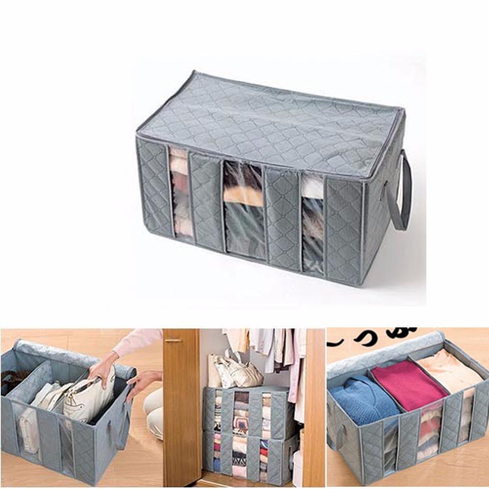 non woven storage box foldable visible clothing organizer