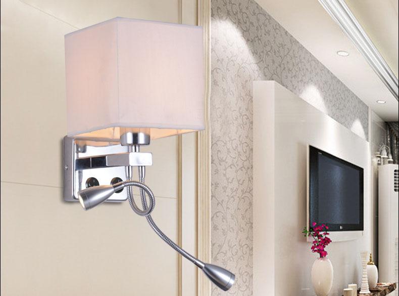 Moderna l mpara de pared con el interruptor de pared ikea - Lamparas lectura cama ...