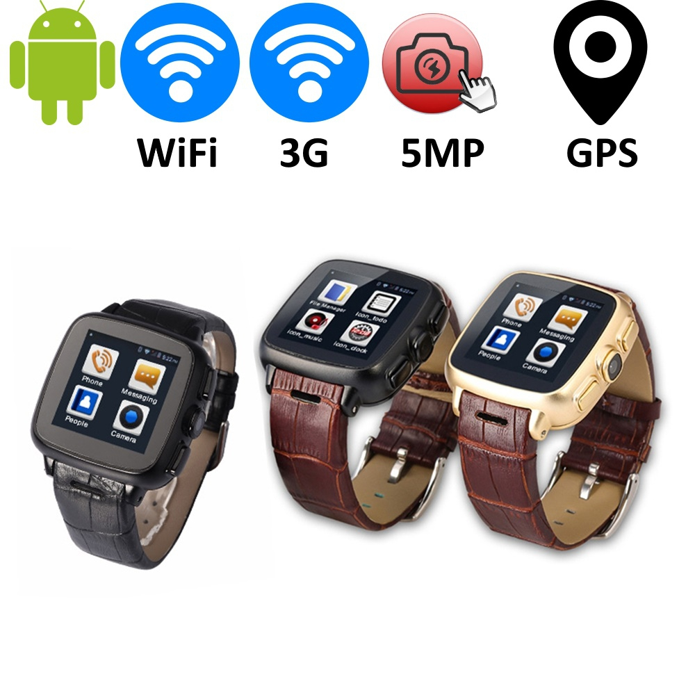 Men's A9 Android Bluetooth Smart Watch GPS GSM CDMA 2G/3G Phone Smartwatch Reloj Inteligente with 5MP Camera and Dual-Core CPU(China (Mainland))