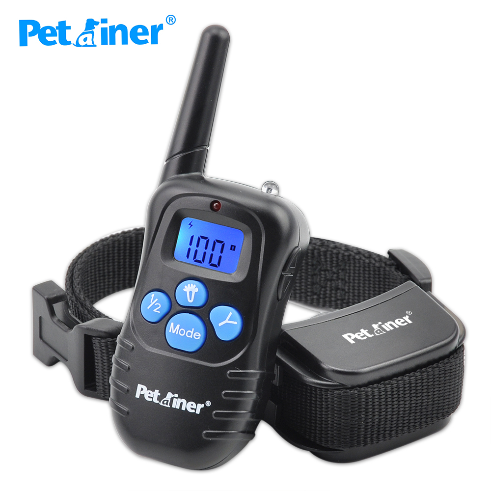 Petrainer 998DRB-1 300M Rechargeable And Waterproof Shock Vibra Remote Control LCD Electric Pet Dog Training Collar(China (Mainland))