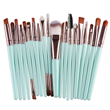 Buy 20Pcs 22 Color Eye Makeup Brushes Set Eyeshadow Foundation Eyeliner Eyebrow Lip Contour Blending Cosmetic Brush Beauty Maquiagem for $3.49 in AliExpress store
