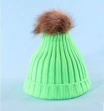 Brand 2016 Women Spring Winter Hats Beanies Knitted Cap Crochet Hat Rabbit Fur Pompons Ear Protect Casual Cap Chapeu Feminino(China (Mainland))