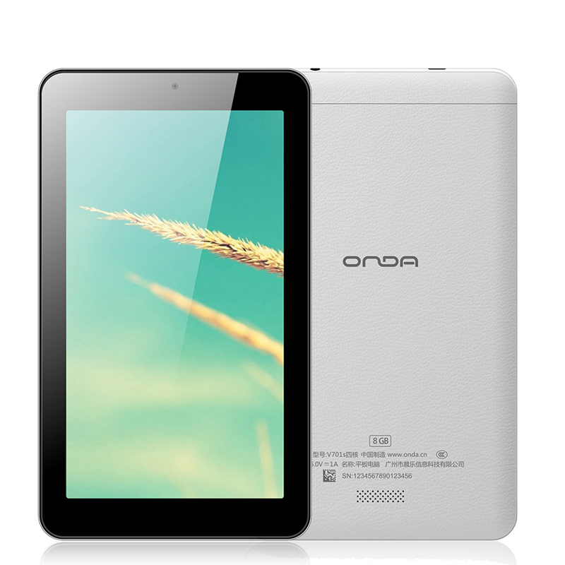 Android 4.4 Cheap Tablets Free Shipping Onda V701s Quad Core Tablet PC 7 inch 1024*600 Allwinner A31S 8GB WiFi(China (Mainland))