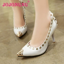 size 30-52 women thin high heel shoes sexy lady brand quality rivets pumps meatal head fashion heels footwear shoes P22566(China (Mainland))