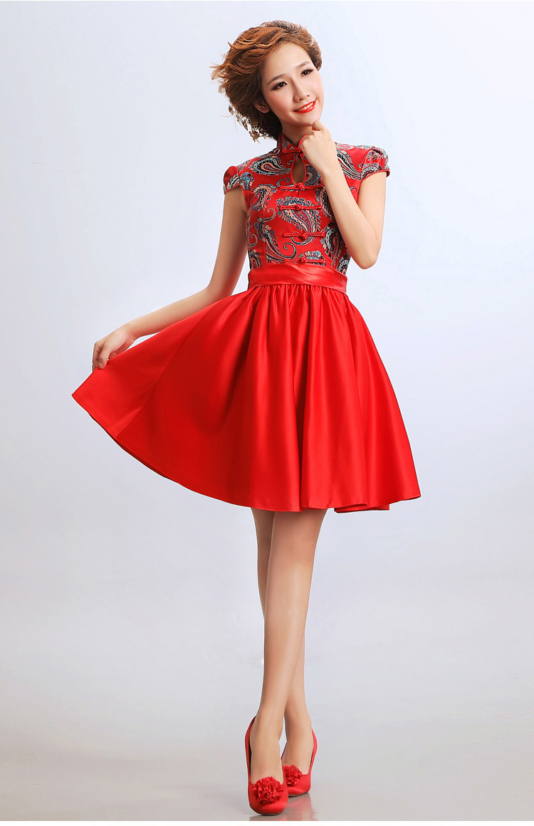 Free shipping chinese traditional clothing chinese for Denim wedding dresses for sale