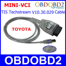 MINI VCI For TIS Techstream Professional OBD2 Communication Mini-VCI Interface VCI V10.30.029 OBD2 Diagnostic Cable Connector(China (Mainland))