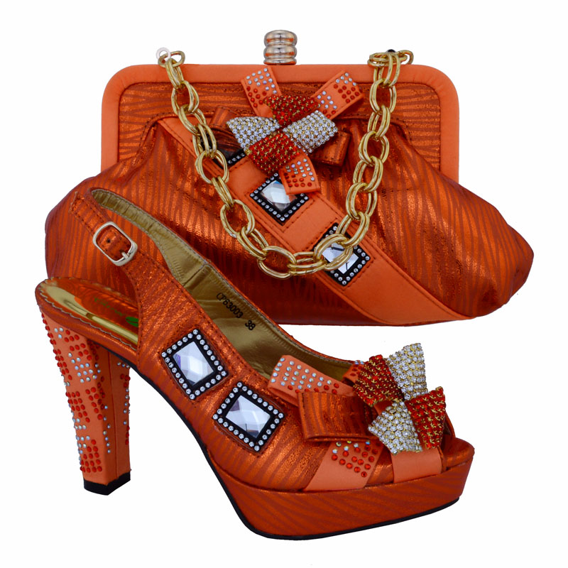 CP63003,Favorite Design Italian Lady Shoes And Bag Set With Lots Of Rhinestones,Big Quality African Shoes And Matching Bag!(China (Mainland))