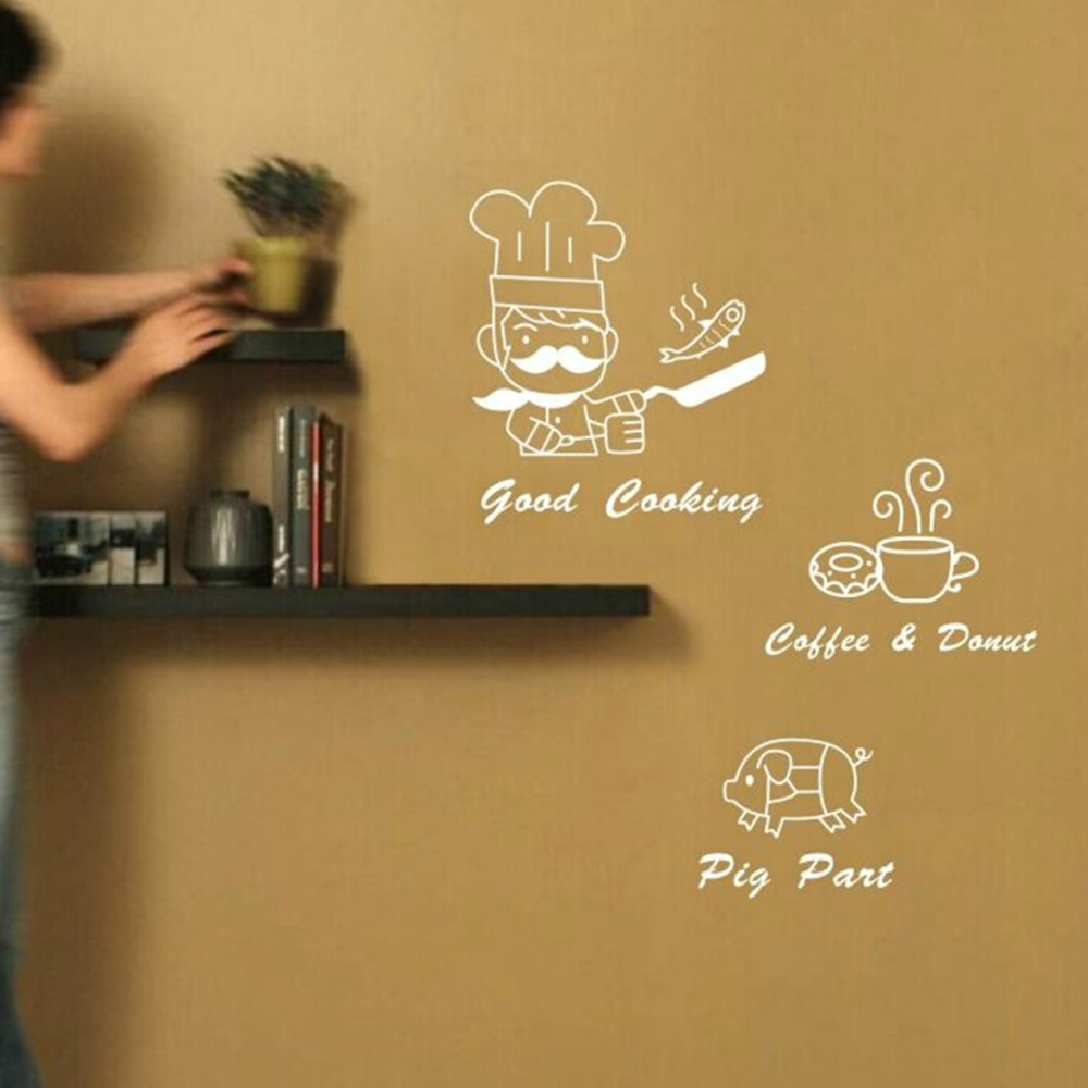 2015 new DIY cook creative simple and stylish kitchen art wall stickers kitchen wall stickers home decor