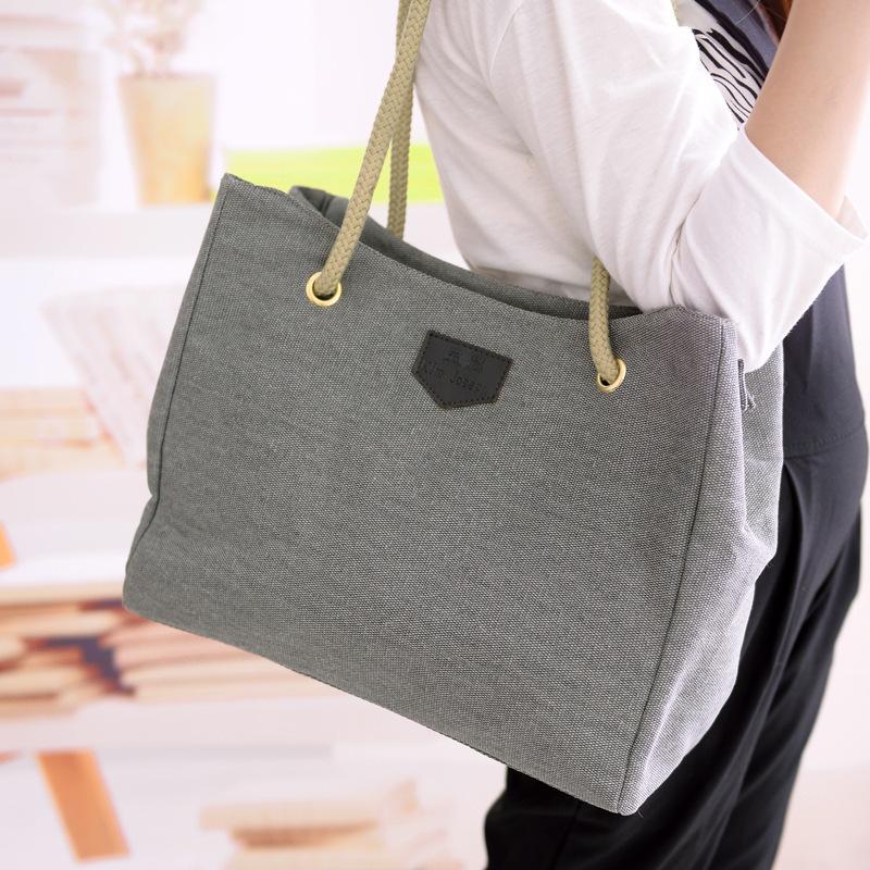 Canvas Women Bag designer Clutch Handbags Shoulder Casual Tote Bolsas Femininas With Zipper(China (Mainland))