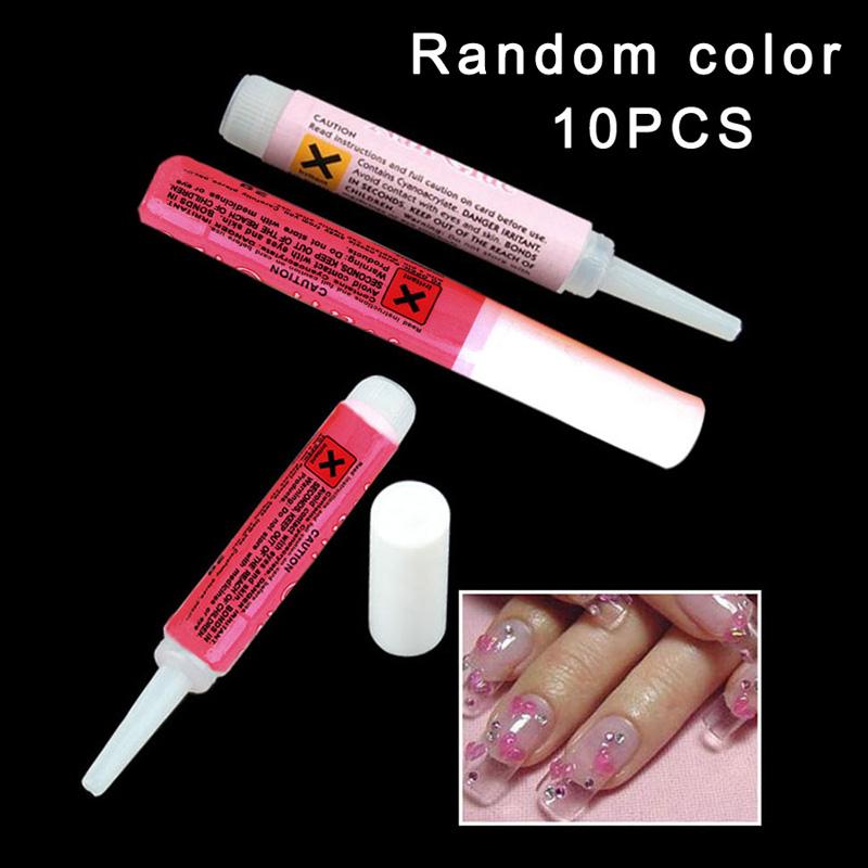 10 x 2g Nail Gel Mini ProfessionaL Beauty Nail False Art Decorate Tips Acrylic Glue(China (Mainland))