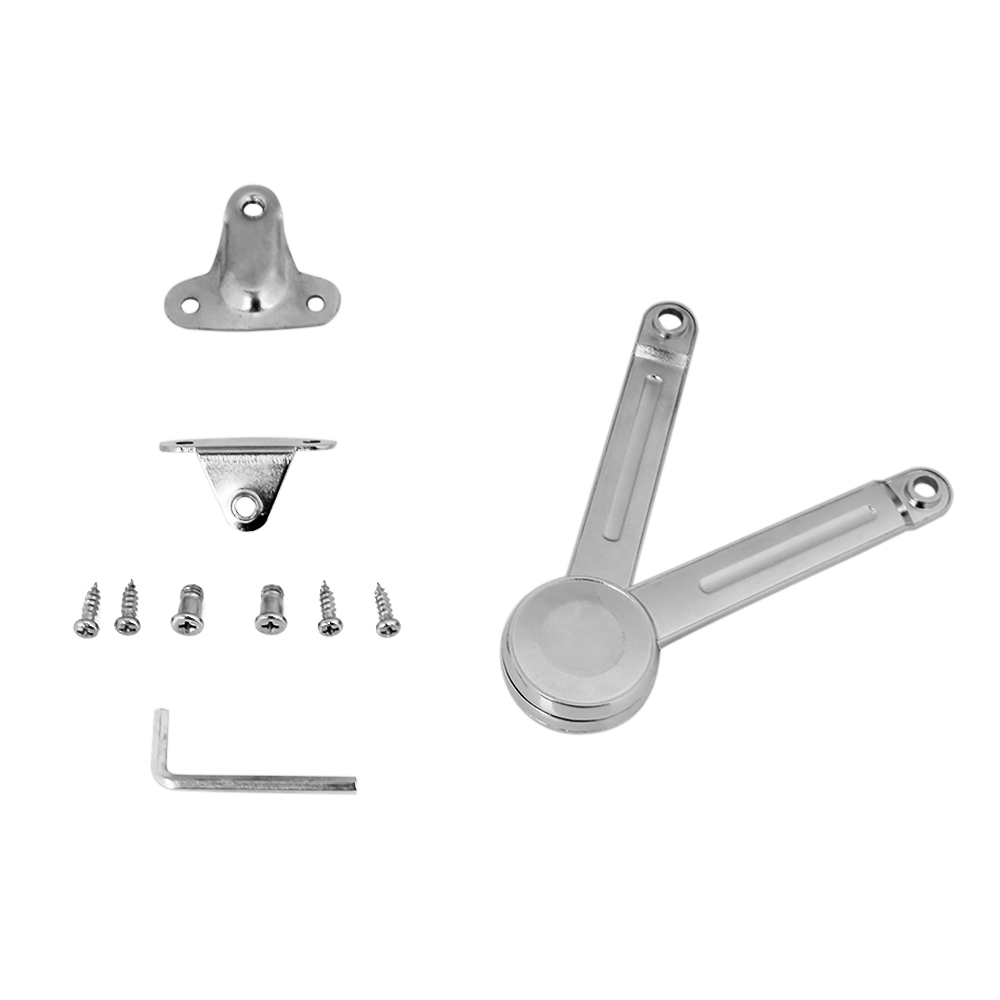 1pcs Door Stays Set Hinges zinc alloy Lift up stay support cabinet Hinge with accessories Adjustable screw Furniture Hinges(Hong Kong)