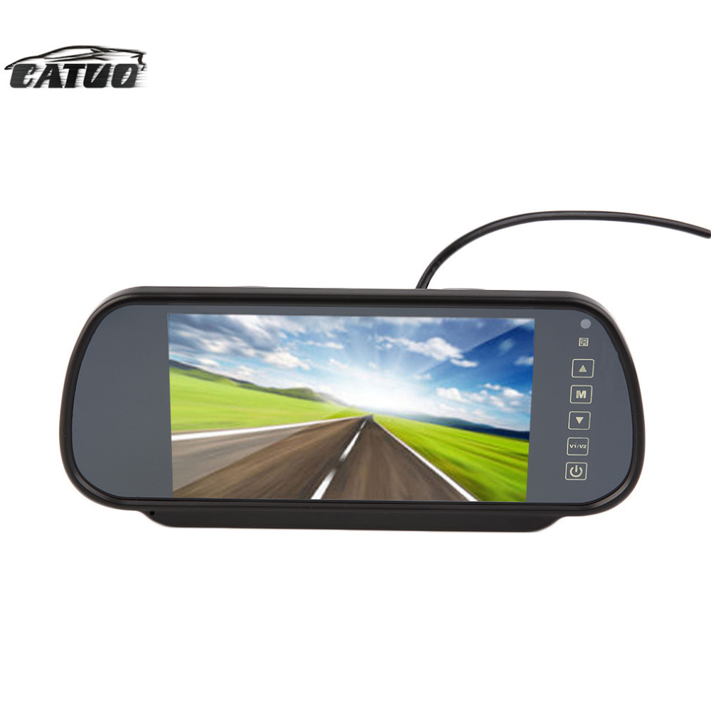 New 7'' Color TFT LCD Car Mirror Monitor Auto Vehicle Parking Rearview Monitor For DVD Reverse Camera with remote hot sale