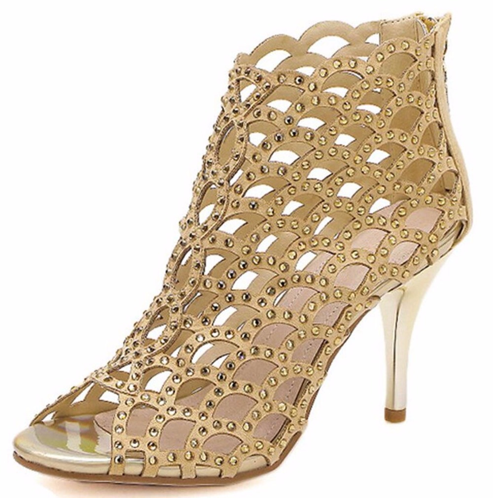 Hot sale Designer shoes woman 2016 summer style Fretwork Gladiator high heels sandals Sexy red bottom party wedding pumps<br><br>Aliexpress