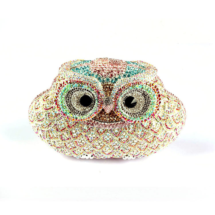2015 New Style Crystal Rhinestone Owl Women Dinner Handbags Hot Cat Classic Evening Clutch Bag<br><br>Aliexpress