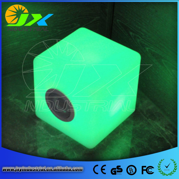 Free shipping 30cm Factory wholesale PE Material led light cube seat(China (Mainland))