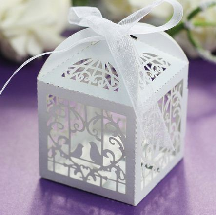 Wedding Invitations Mariage 5Laser Cut Bird Favors Candy Boxes Sweets Box Baby Shower Gifts Decorations Supplies - Yiwu Wedding&Baby store