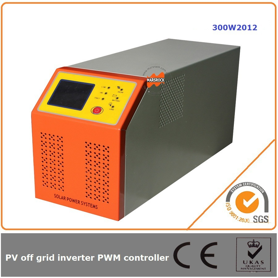 300W 12V 20A off grid solar charge controller and inverters with grid power to charge battery(UPS)(China (Mainland))