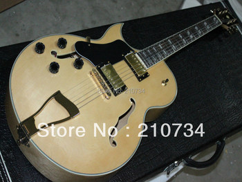 Wholesale -    latest production  Natural color left hand jazz electric guitar free shipping